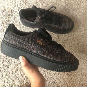 Puma Basketball Platform Shoes